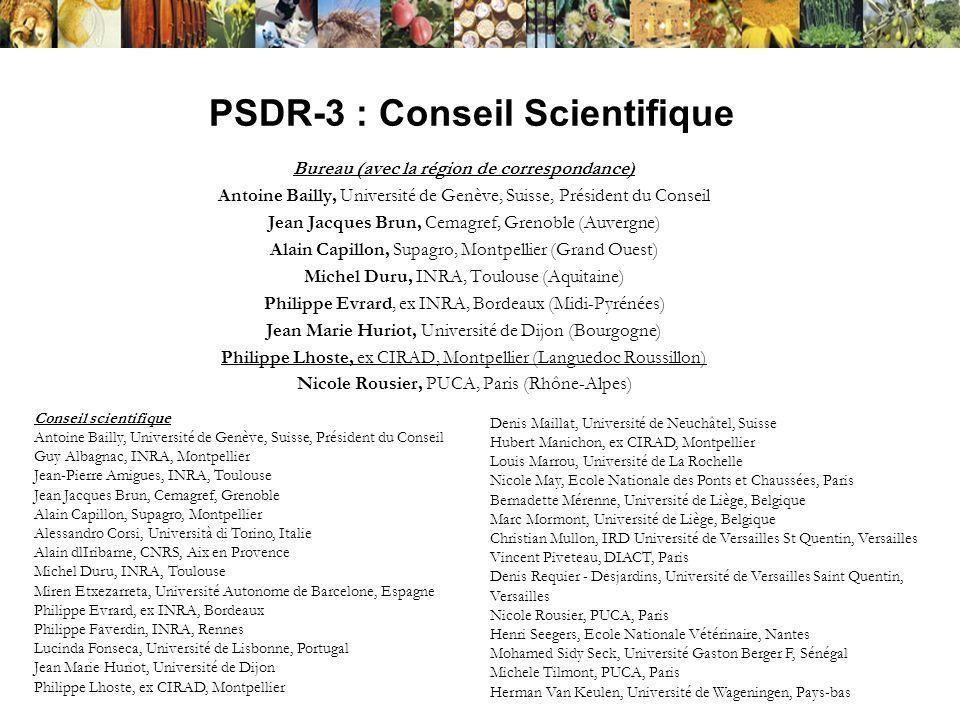 PSDR-3 : Conseil Scientifique