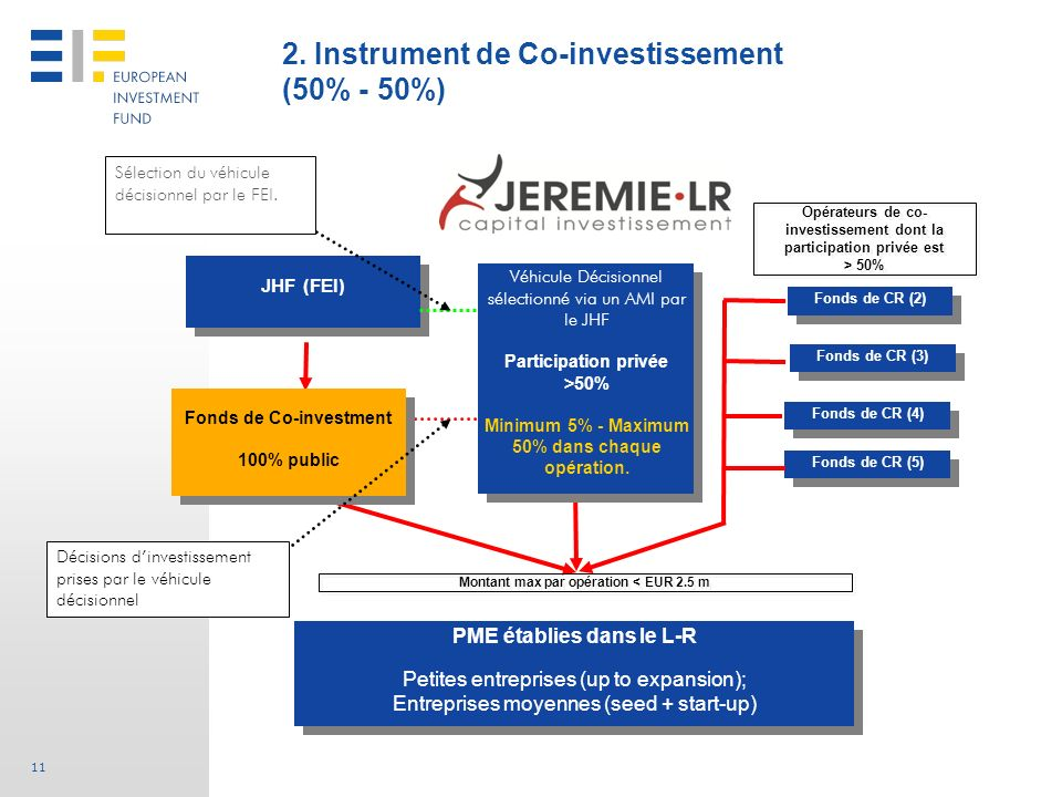 2. Instrument de Co-investissement (50% - 50%)
