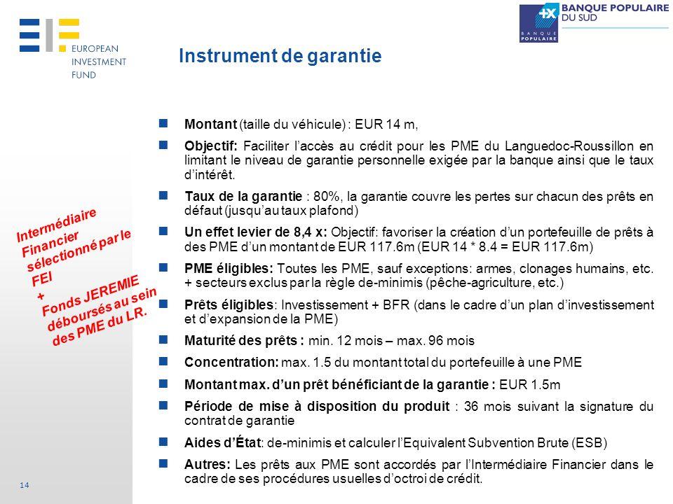 Instrument de garantie