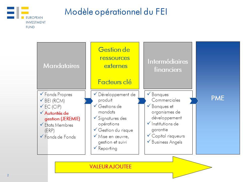 Modèle opérationnel du FEI