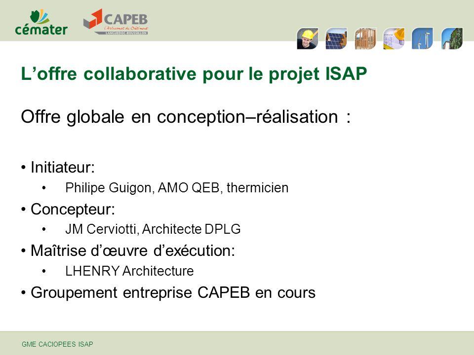 L'offre collaborative pour le projet ISAP