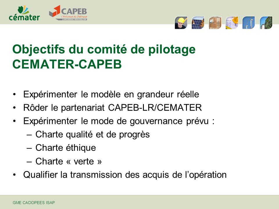 Objectifs du comité de pilotage CEMATER-CAPEB