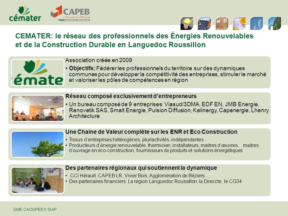 CEMATER: le réseau des professionnels des Énergies Renouvelables et de la Construction Durable en Languedoc Roussillon