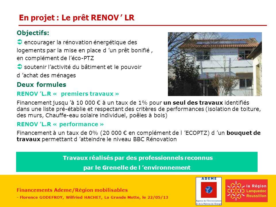 En projet : Le prêt RENOV ' LR