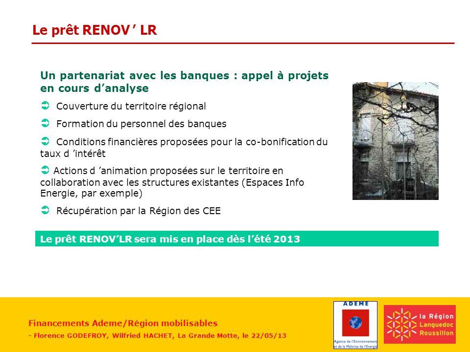 Le prêt RENOV ' LR  Couverture du territoire régional