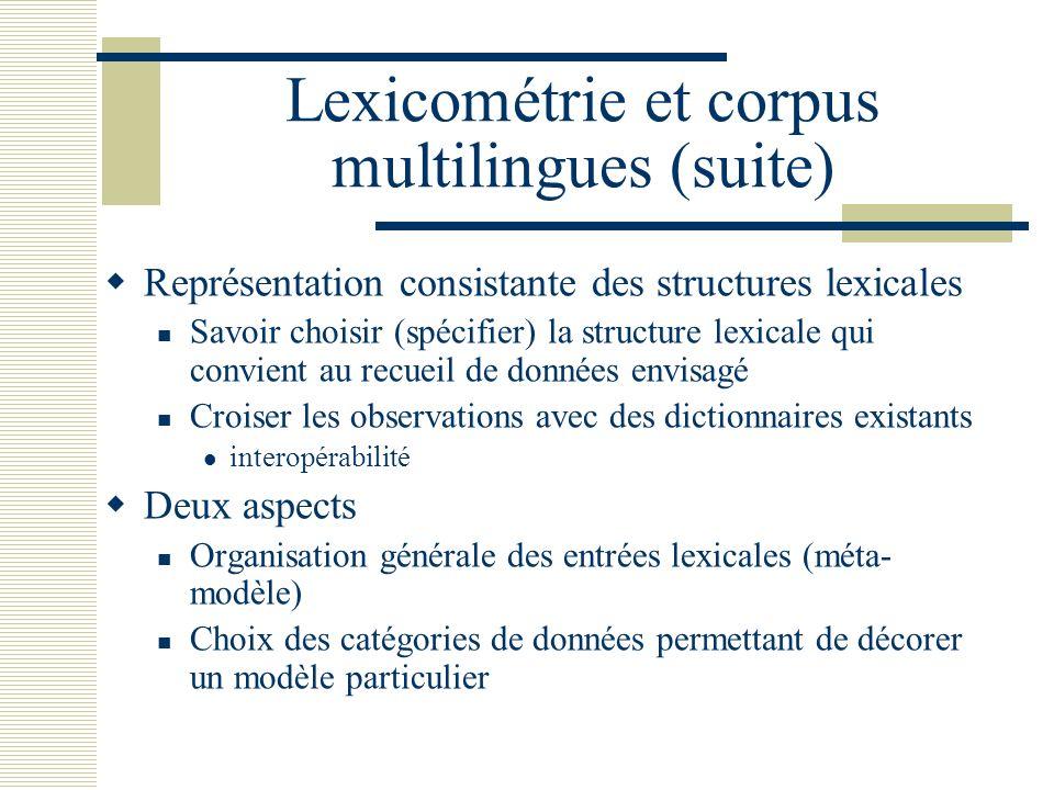 Lexicométrie et corpus multilingues (suite)