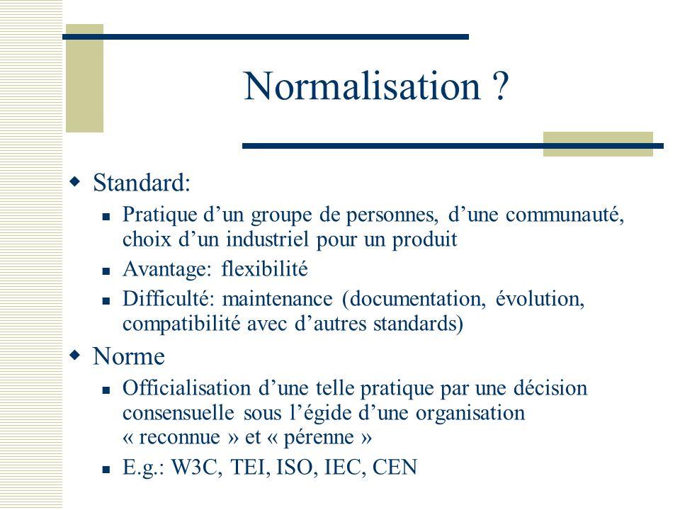 Normalisation Standard: Norme