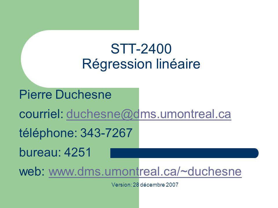 STT-2400 Régression linéaire