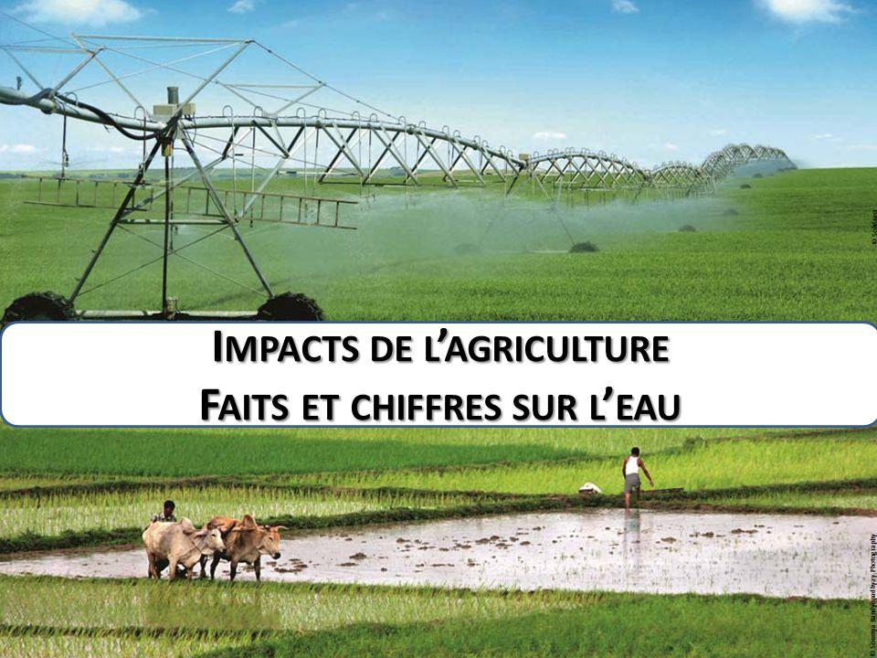Impacts de l'agriculture Faits et chiffres sur l'eau