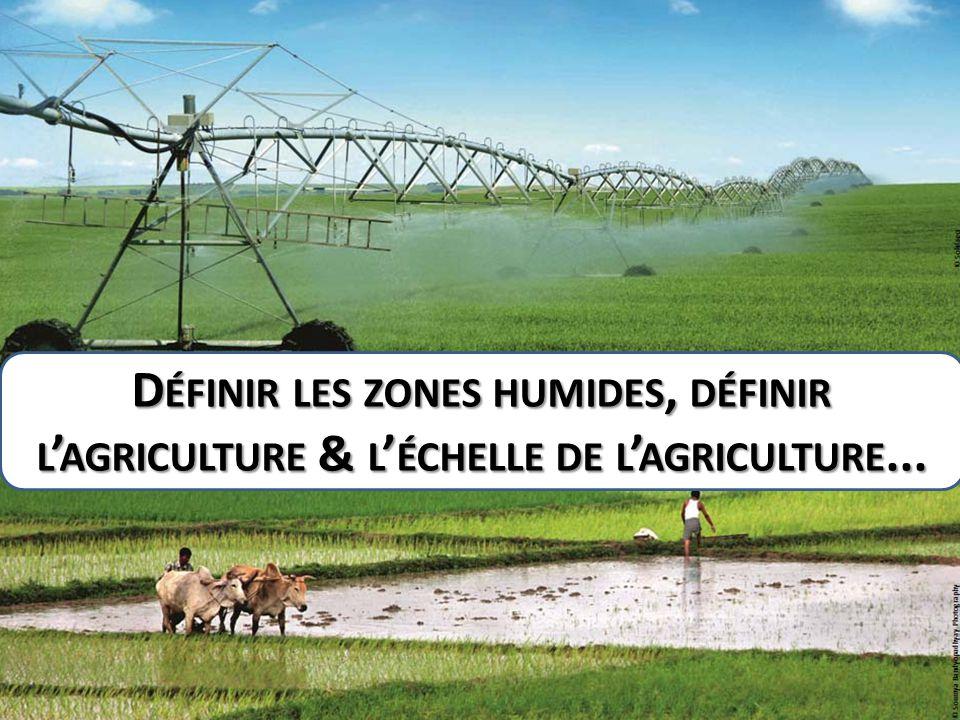 Définir les zones humides, définir l'agriculture & l'échelle de l'agriculture...