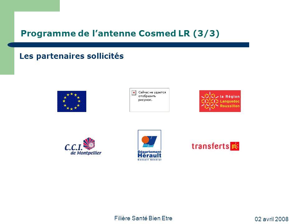 Programme de l'antenne Cosmed LR (3/3)