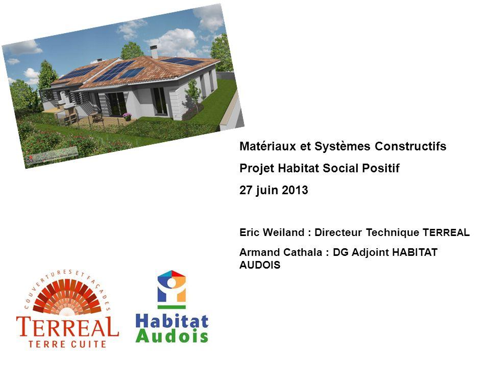Matériaux et Systèmes Constructifs Projet Habitat Social Positif