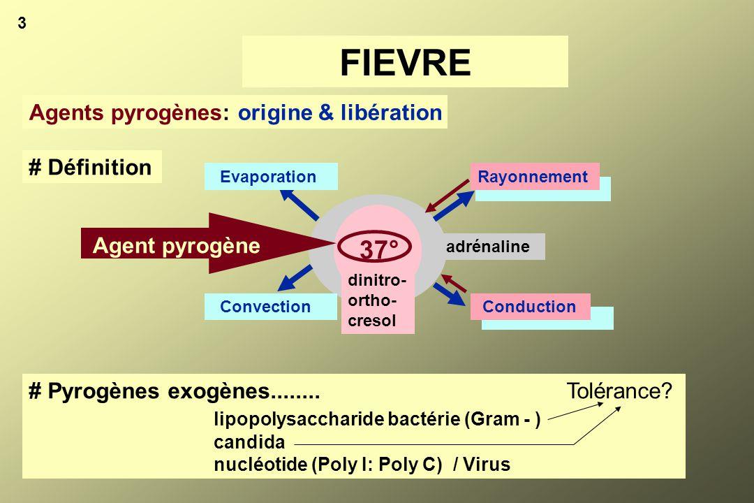 FIEVRE 37° Agents pyrogènes: origine & libération # Définition