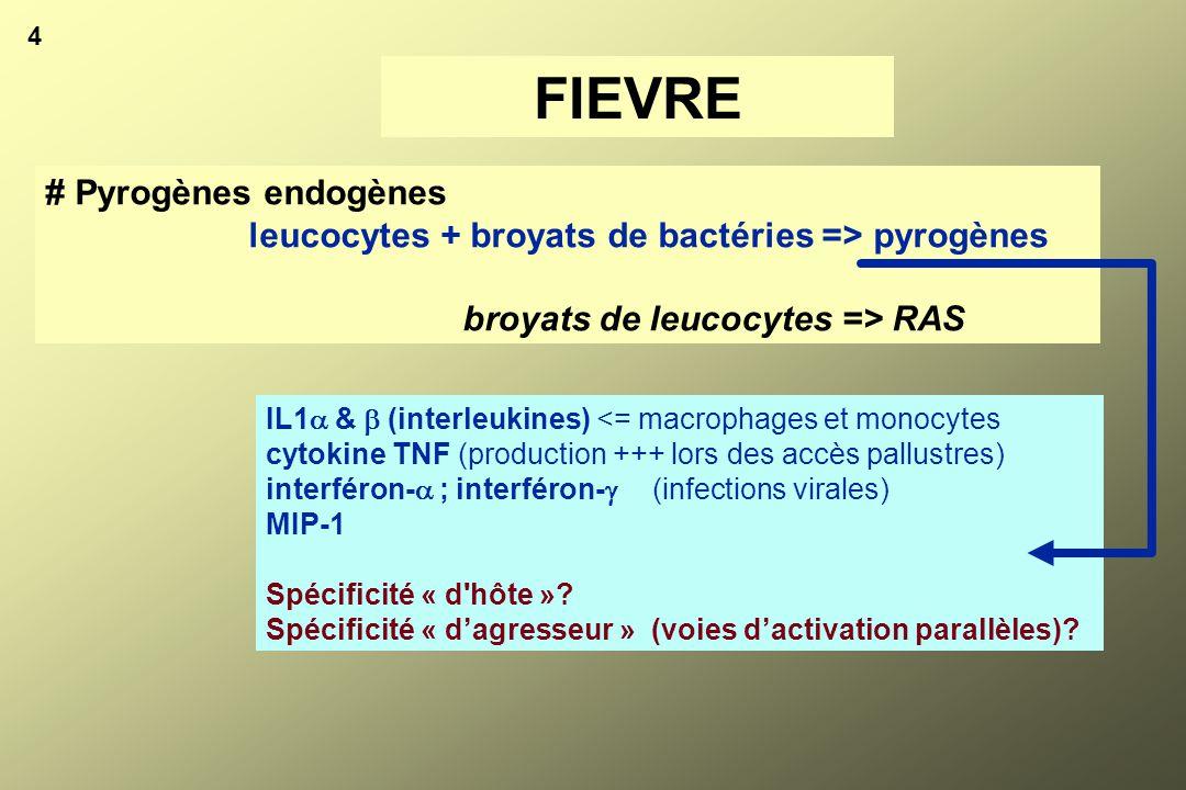 FIEVRE # Pyrogènes endogènes