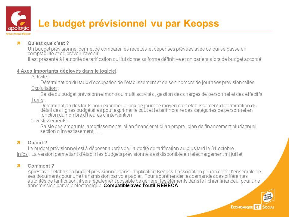 Le budget prévisionnel vu par Keopss