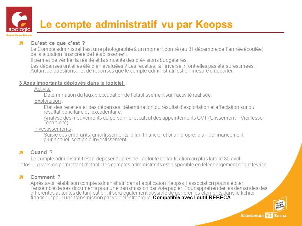 Le compte administratif vu par Keopss