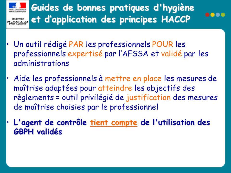 Guides de bonnes pratiques d hygiène et d'application des principes HACCP