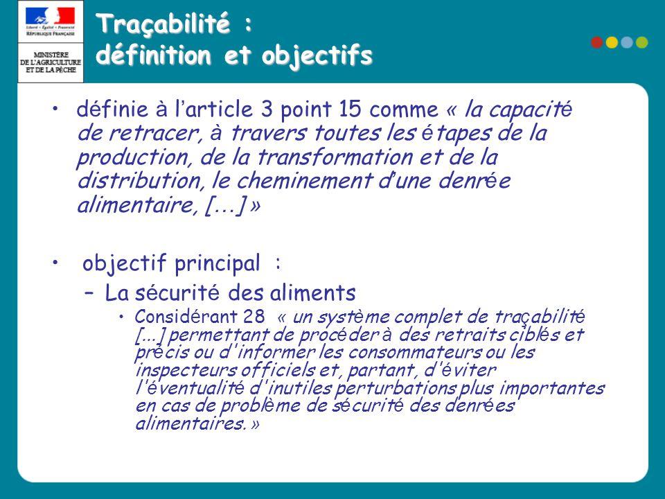 Traçabilité : définition et objectifs