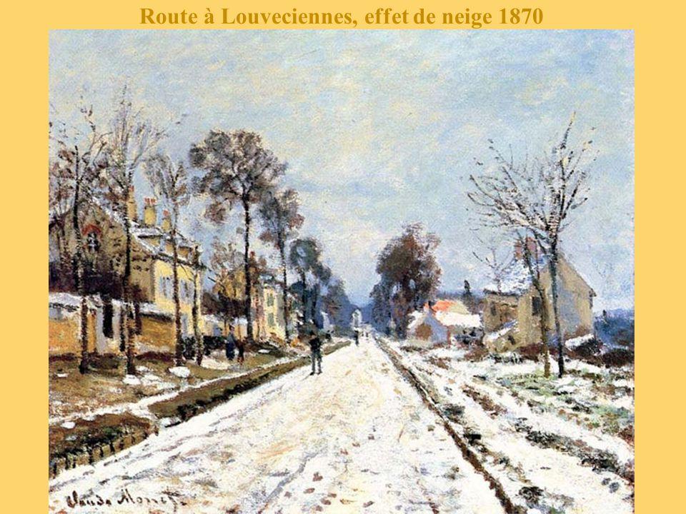 Route à Louveciennes, effet de neige 1870