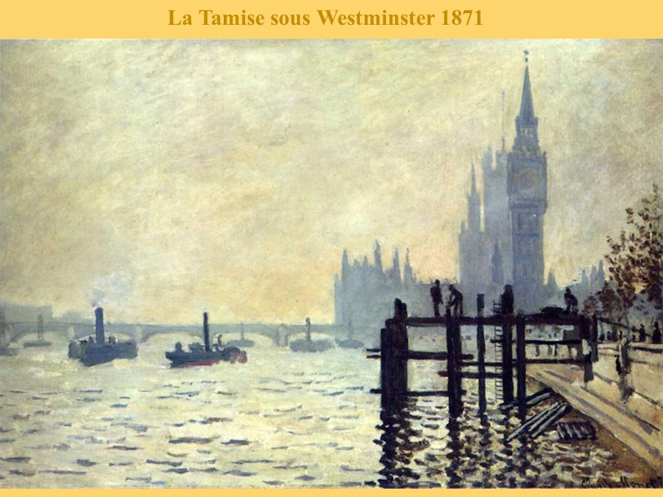 La Tamise sous Westminster 1871