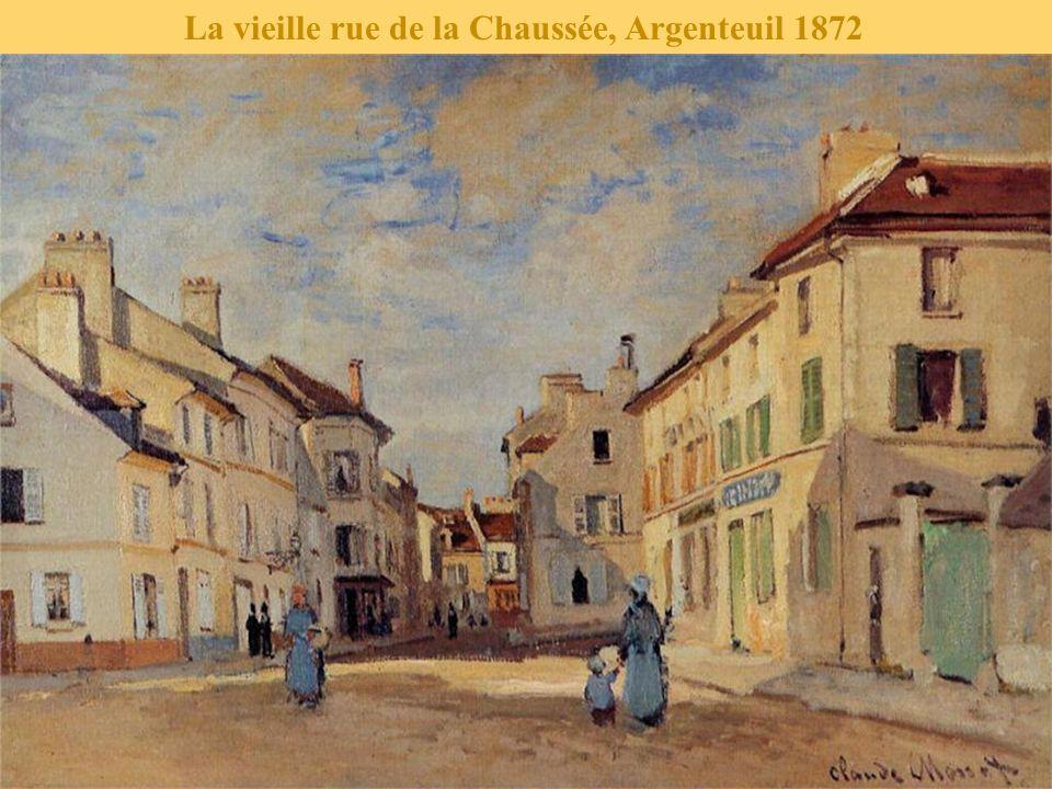 La vieille rue de la Chaussée, Argenteuil 1872