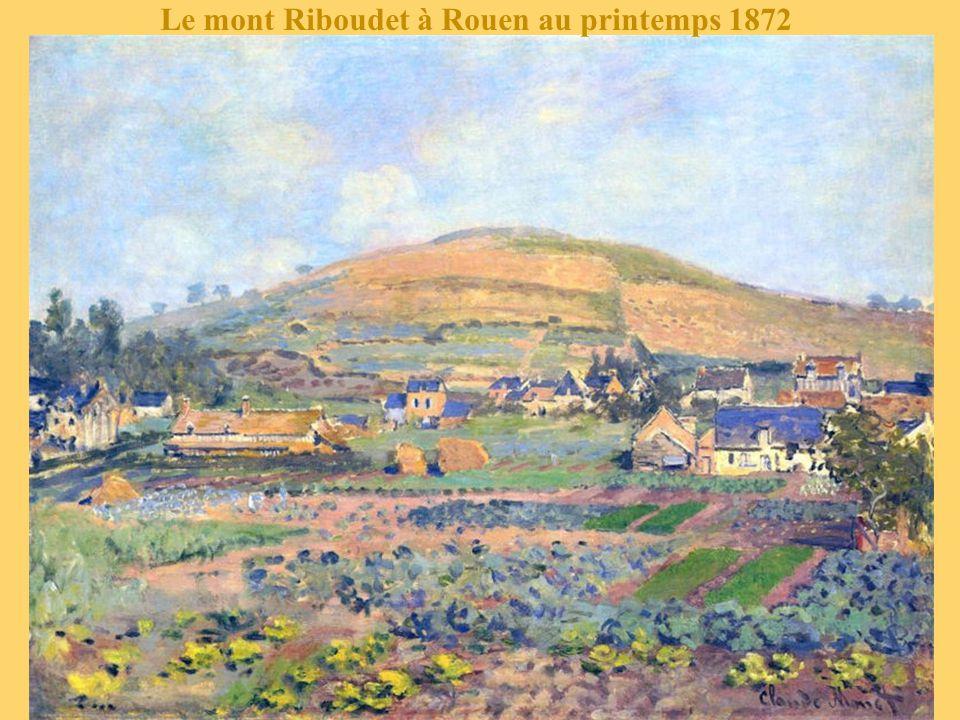 Le mont Riboudet à Rouen au printemps 1872