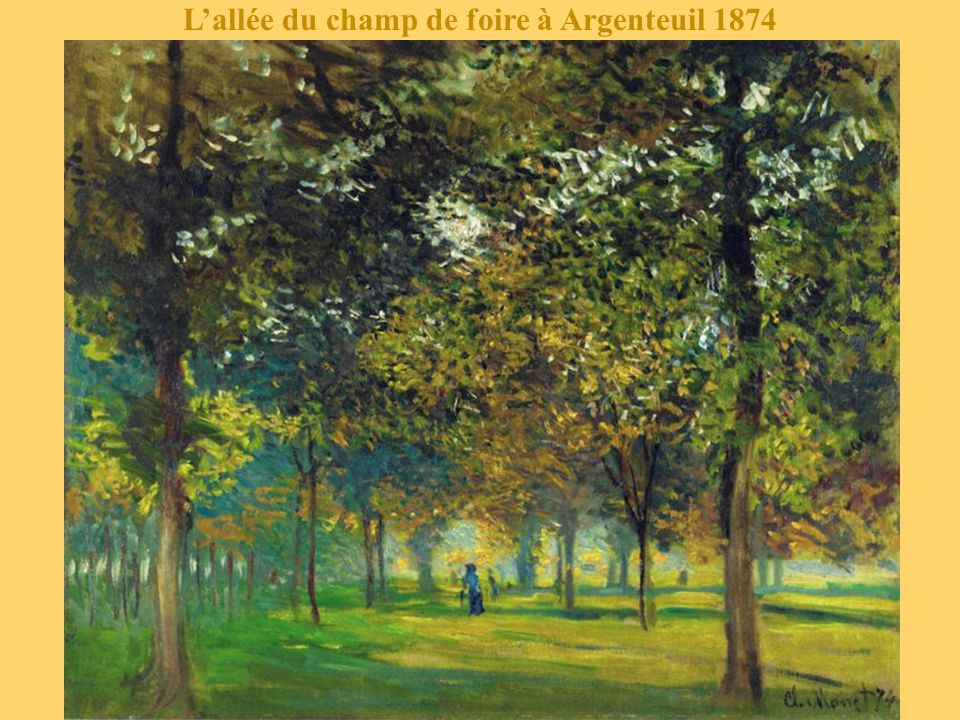 L'allée du champ de foire à Argenteuil 1874