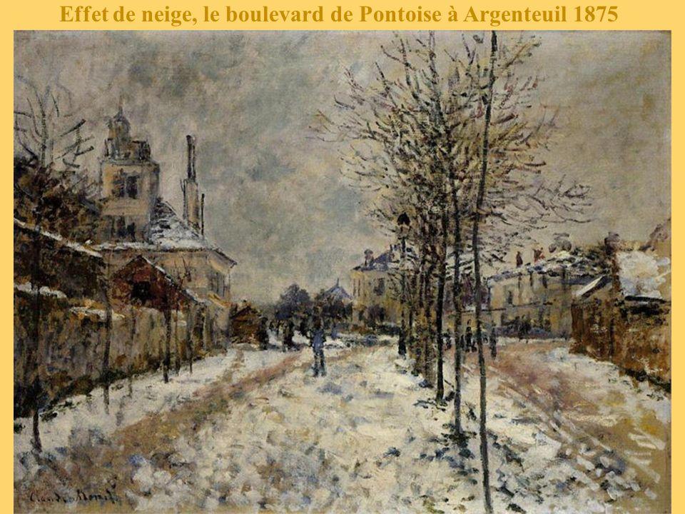 Effet de neige, le boulevard de Pontoise à Argenteuil 1875
