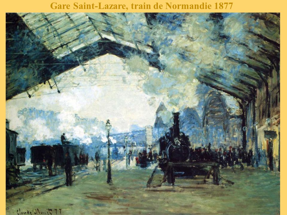 Gare Saint-Lazare, train de Normandie 1877