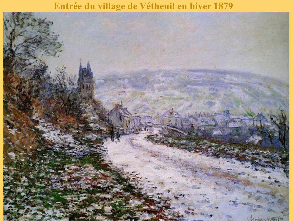 Entrée du village de Vétheuil en hiver 1879