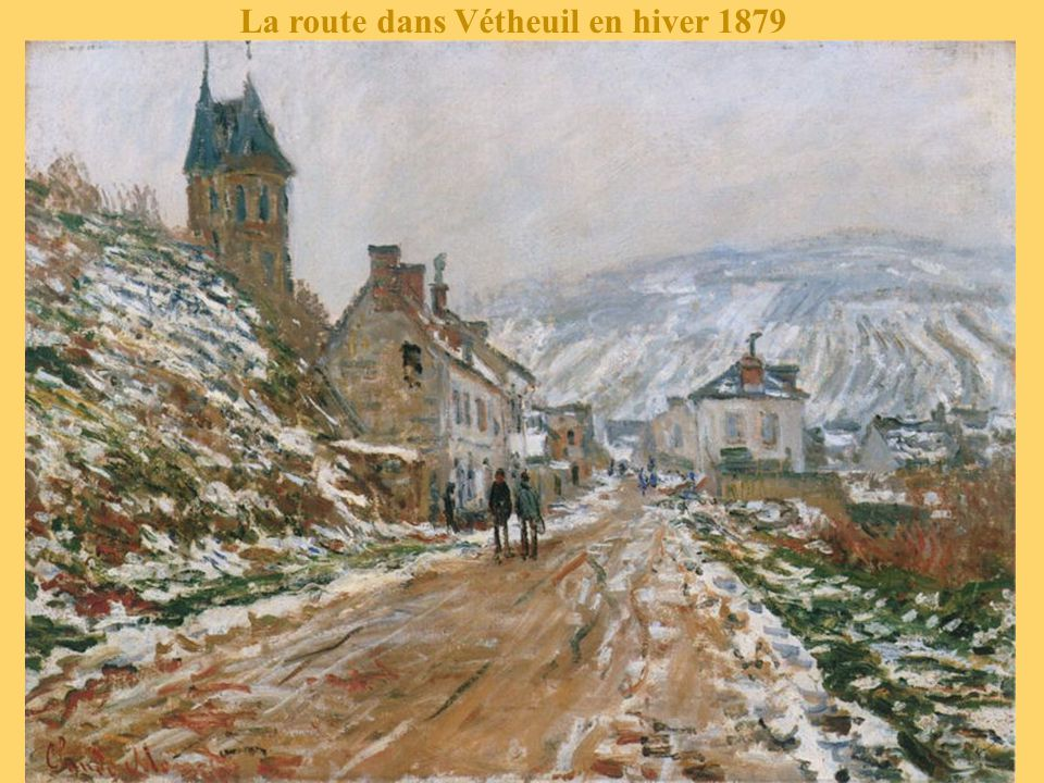 La route dans Vétheuil en hiver 1879