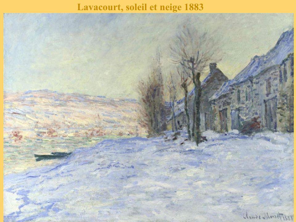 Lavacourt, soleil et neige 1883