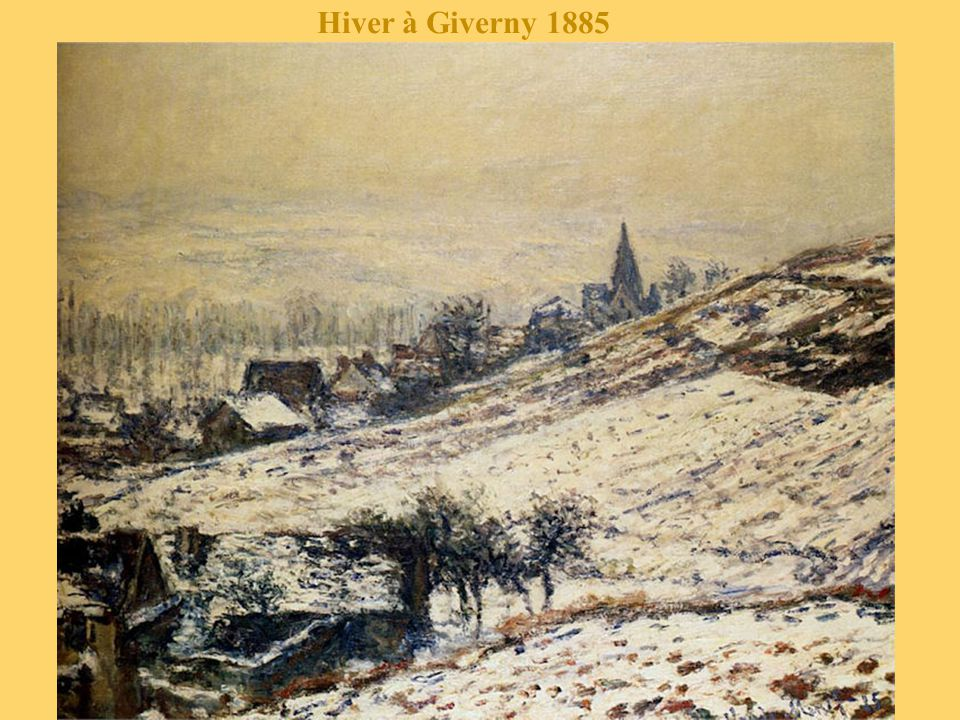Hiver à Giverny 1885