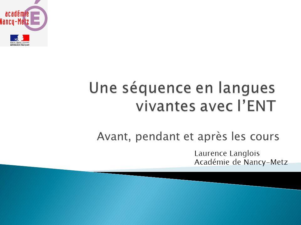 Une séquence en langues vivantes avec l'ENT