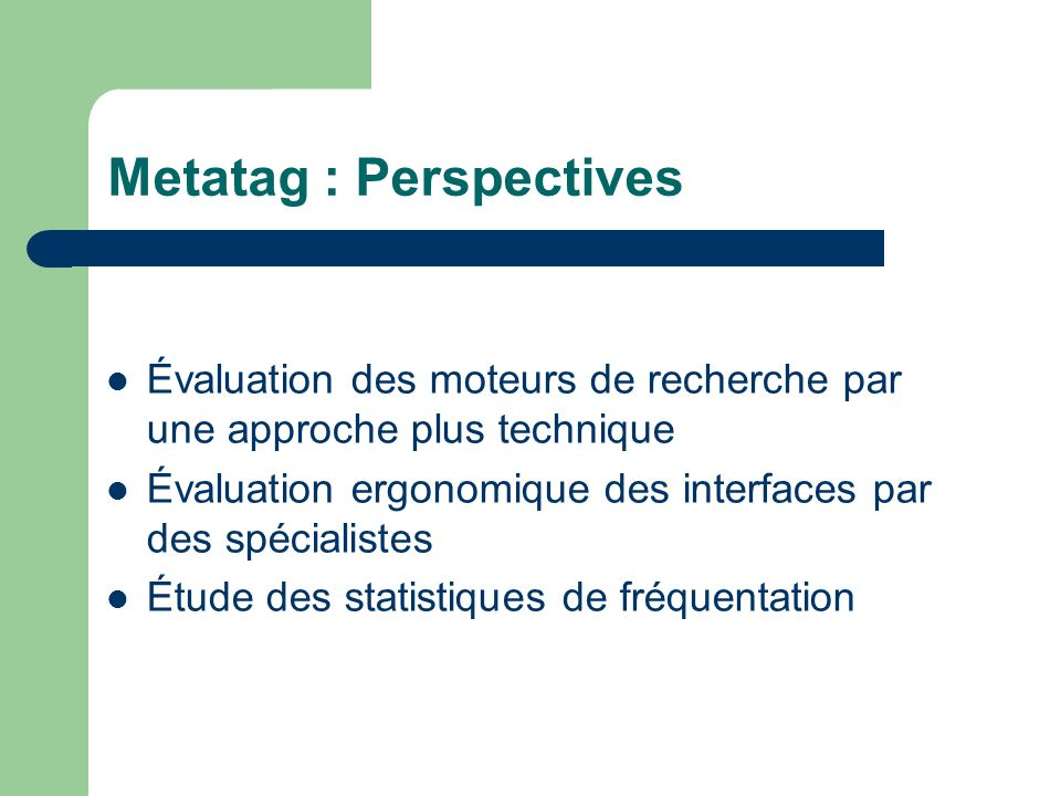 Metatag : Perspectives