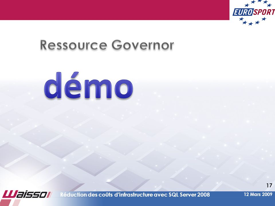 démo Ressource Governor
