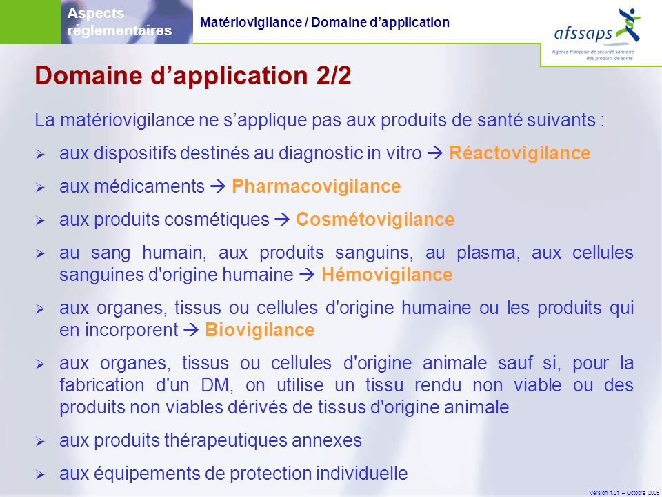 Domaine d'application 2/2