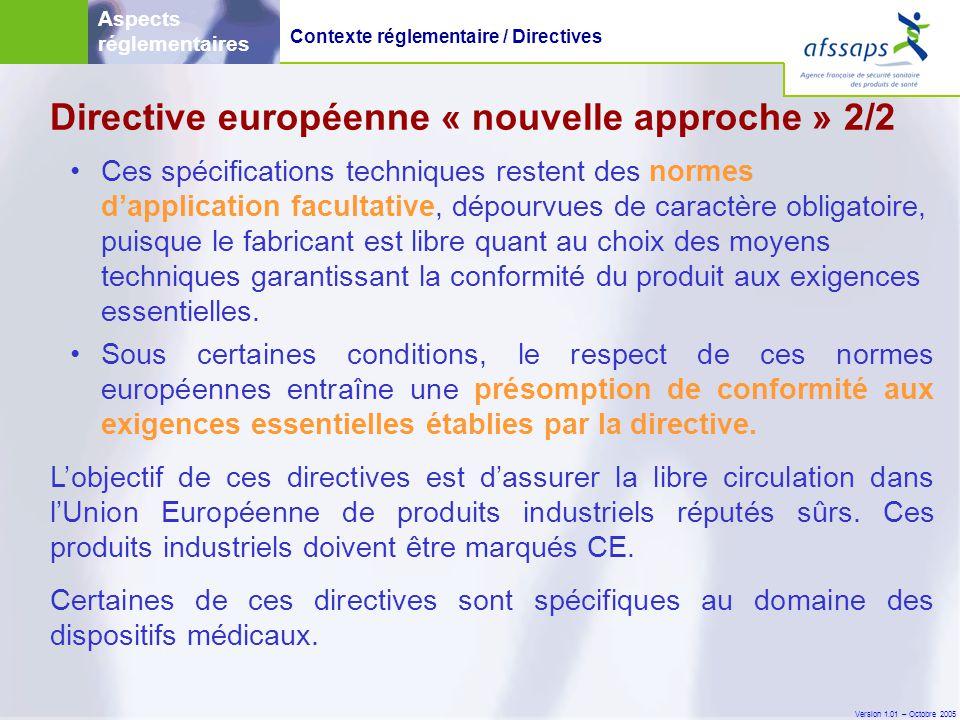 Directive européenne « nouvelle approche » 2/2