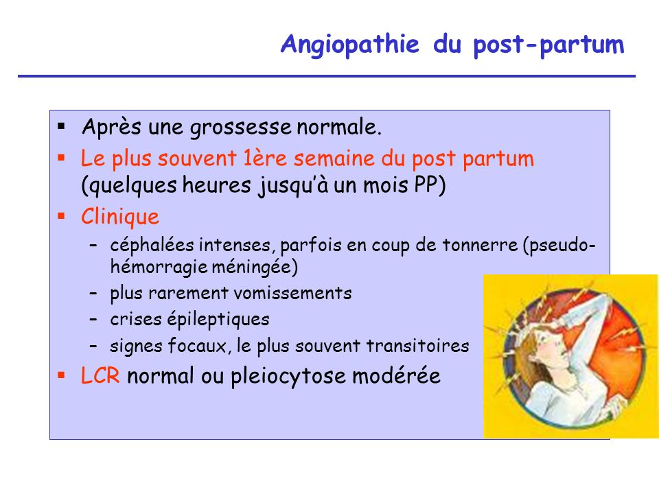 Angiopathie du post-partum