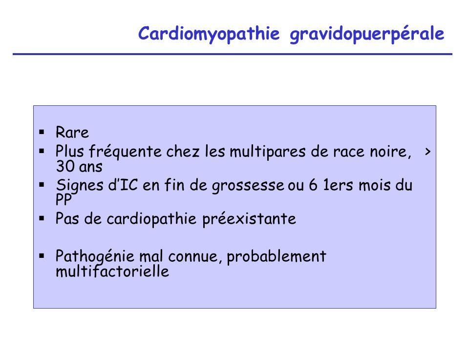 Cardiomyopathie gravidopuerpérale