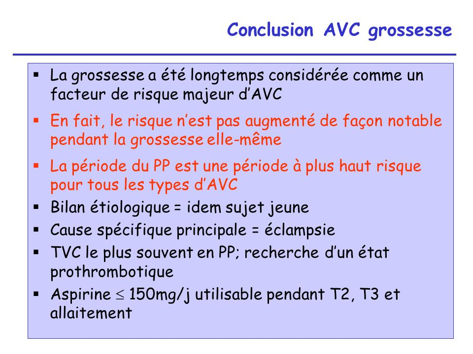 Conclusion AVC grossesse