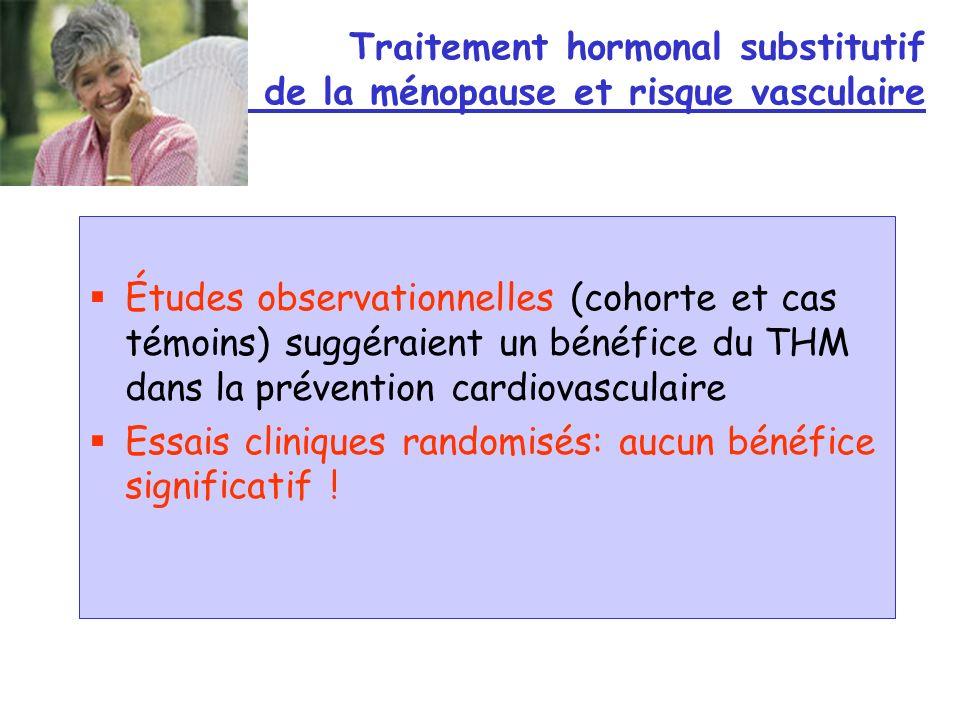 Traitement hormonal substitutif de la ménopause et risque vasculaire
