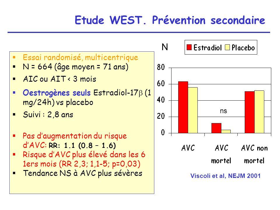 Etude WEST. Prévention secondaire