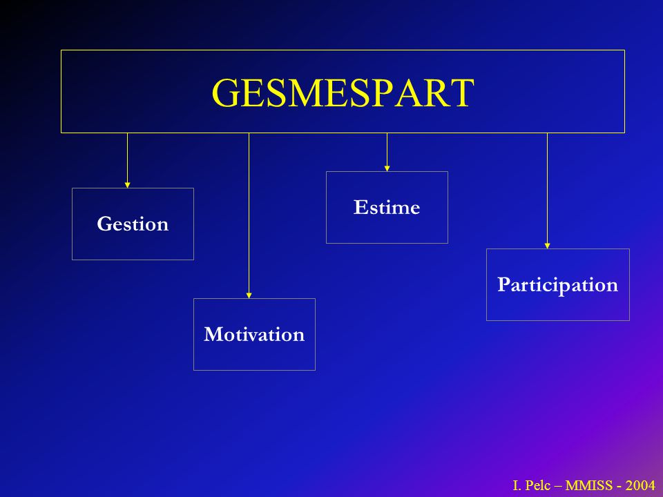 GESMESPART Estime Gestion Participation Motivation