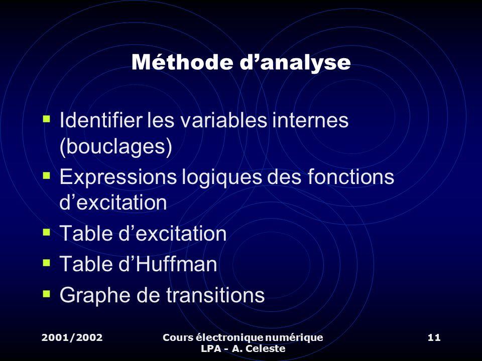 Cours électronique numérique LPA - A. Celeste