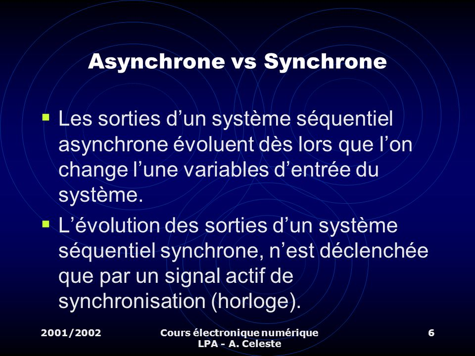 Asynchrone vs Synchrone