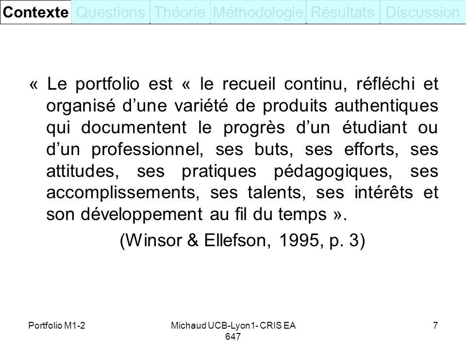 Michaud UCB-Lyon1- CRIS EA 647