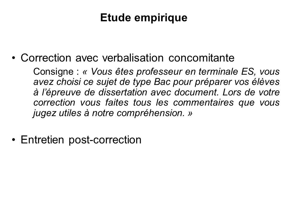 Correction avec verbalisation concomitante