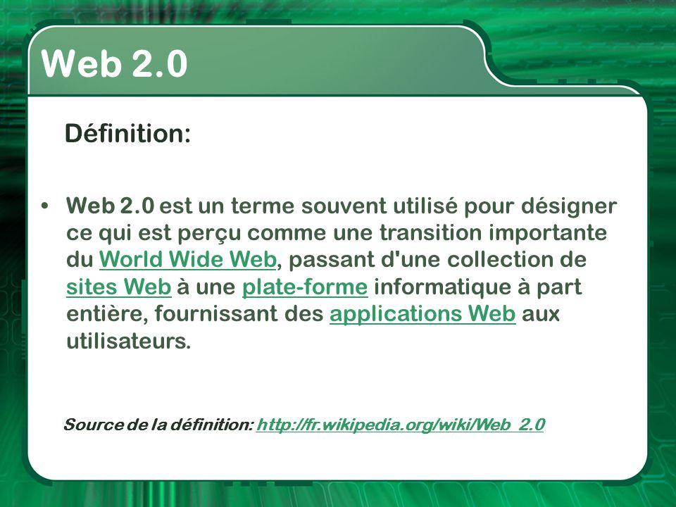 Web 2.0 Définition: