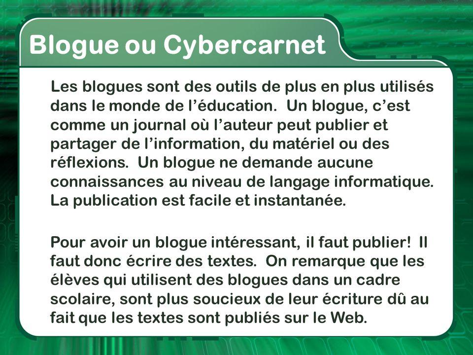 Blogue ou Cybercarnet
